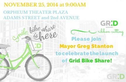 GR:D Bike Share Ribbon Cutting Event
