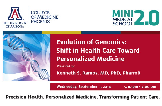 Mini-Medical School 2.0 - Evolution of Genomics: Shift in Health Care Toward Personalized Medicine